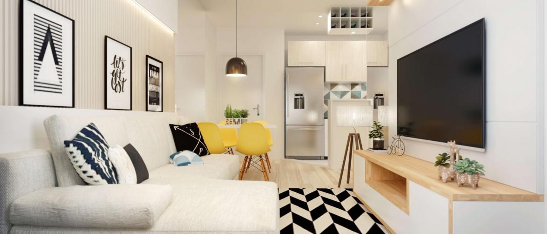 Sala de estar e sala de jantar - Park Realeza