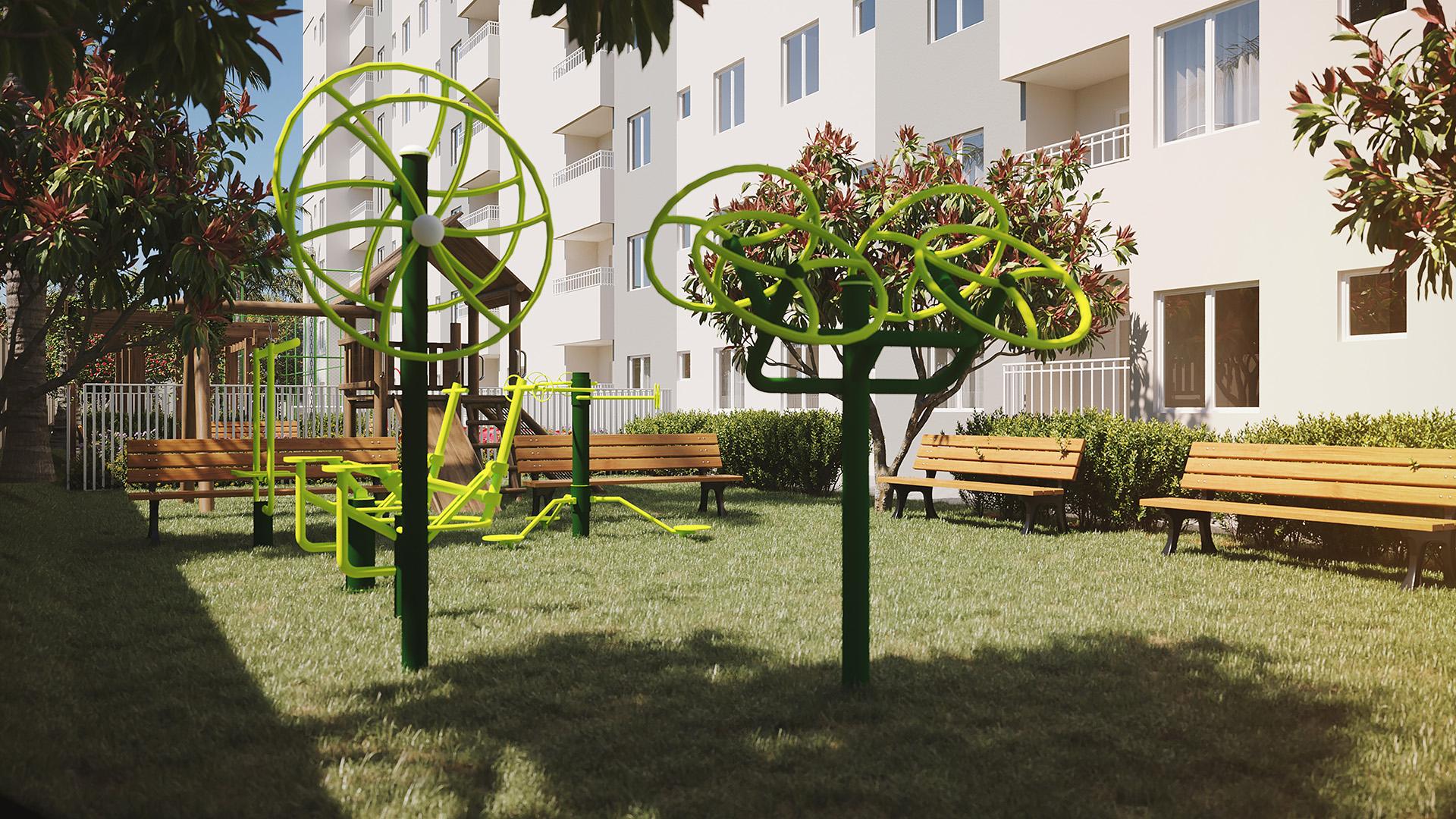 Área Fitness - Park Leopoldino