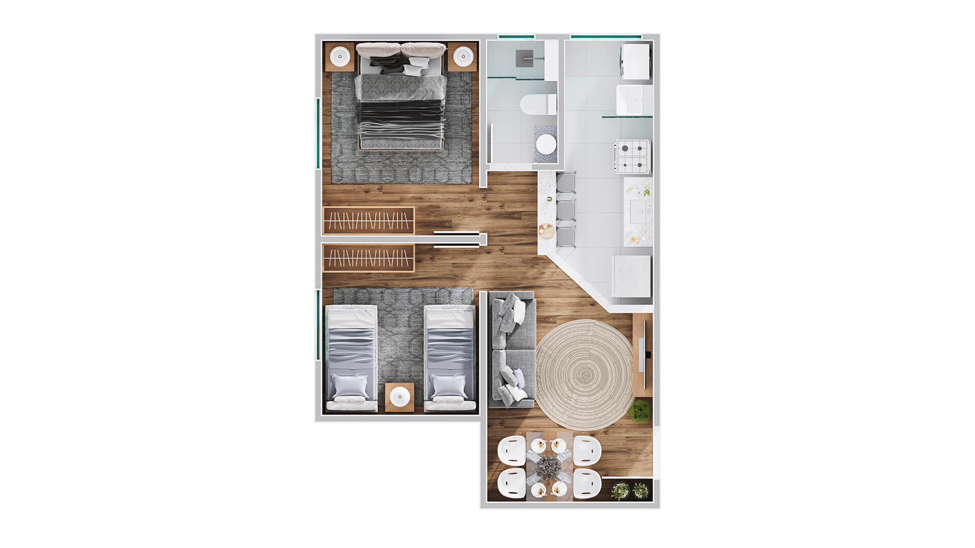 Apartamento tipo canto - Unique araraquara