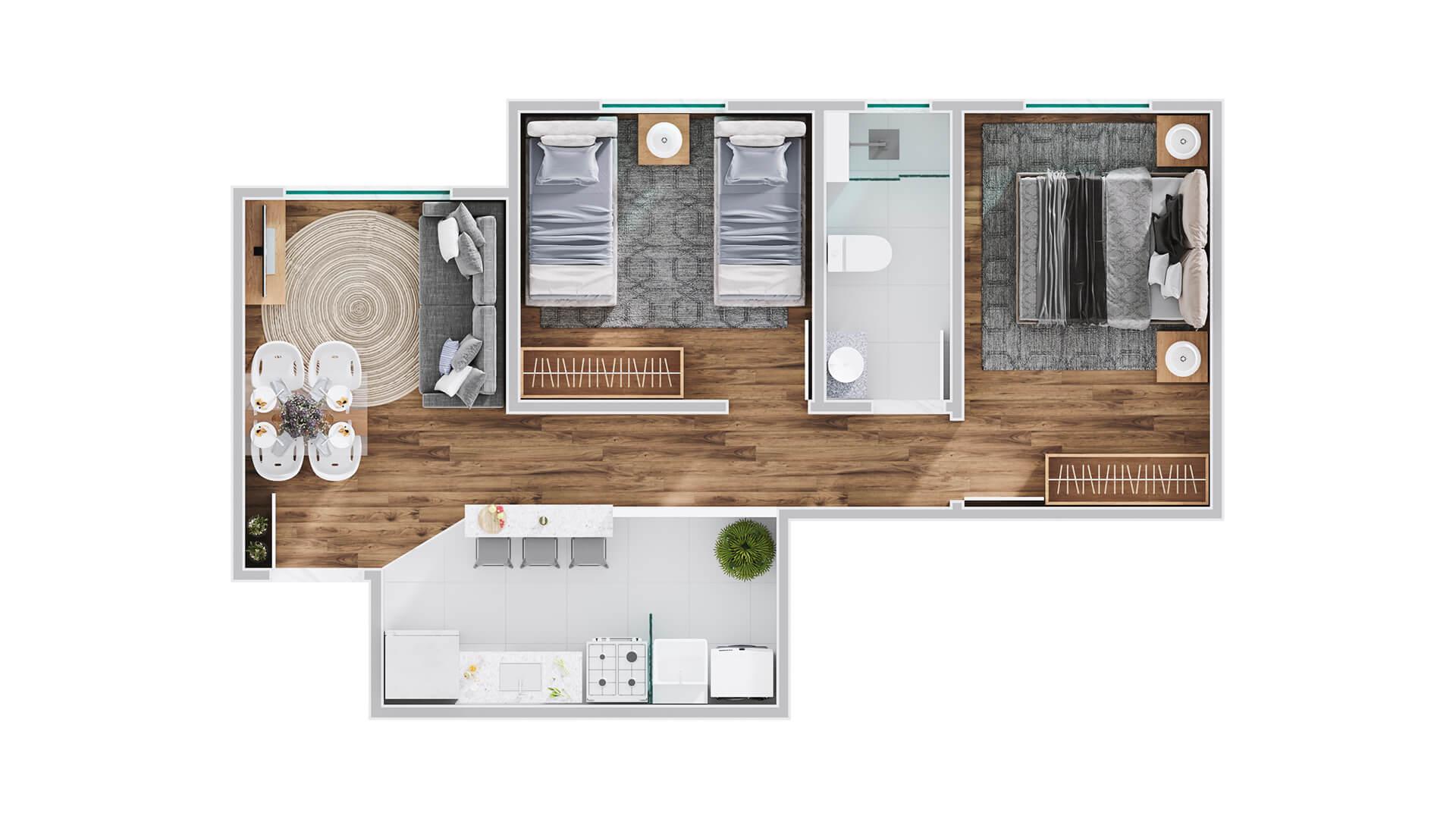 Apartamento tipo meio - Unique araraquara