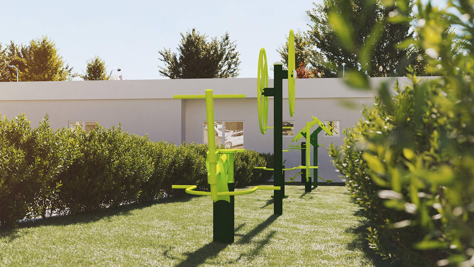 espaço fitness ao ar livre - Park Karaiba