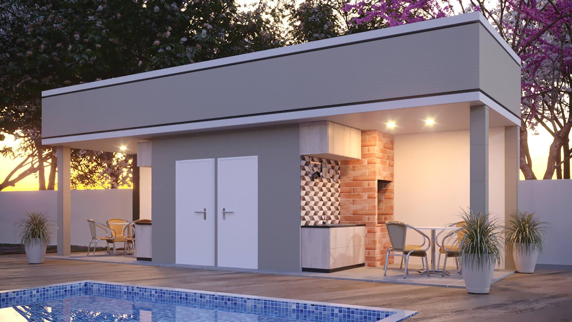 piscina e area gourmet - Unique São Deocleciano
