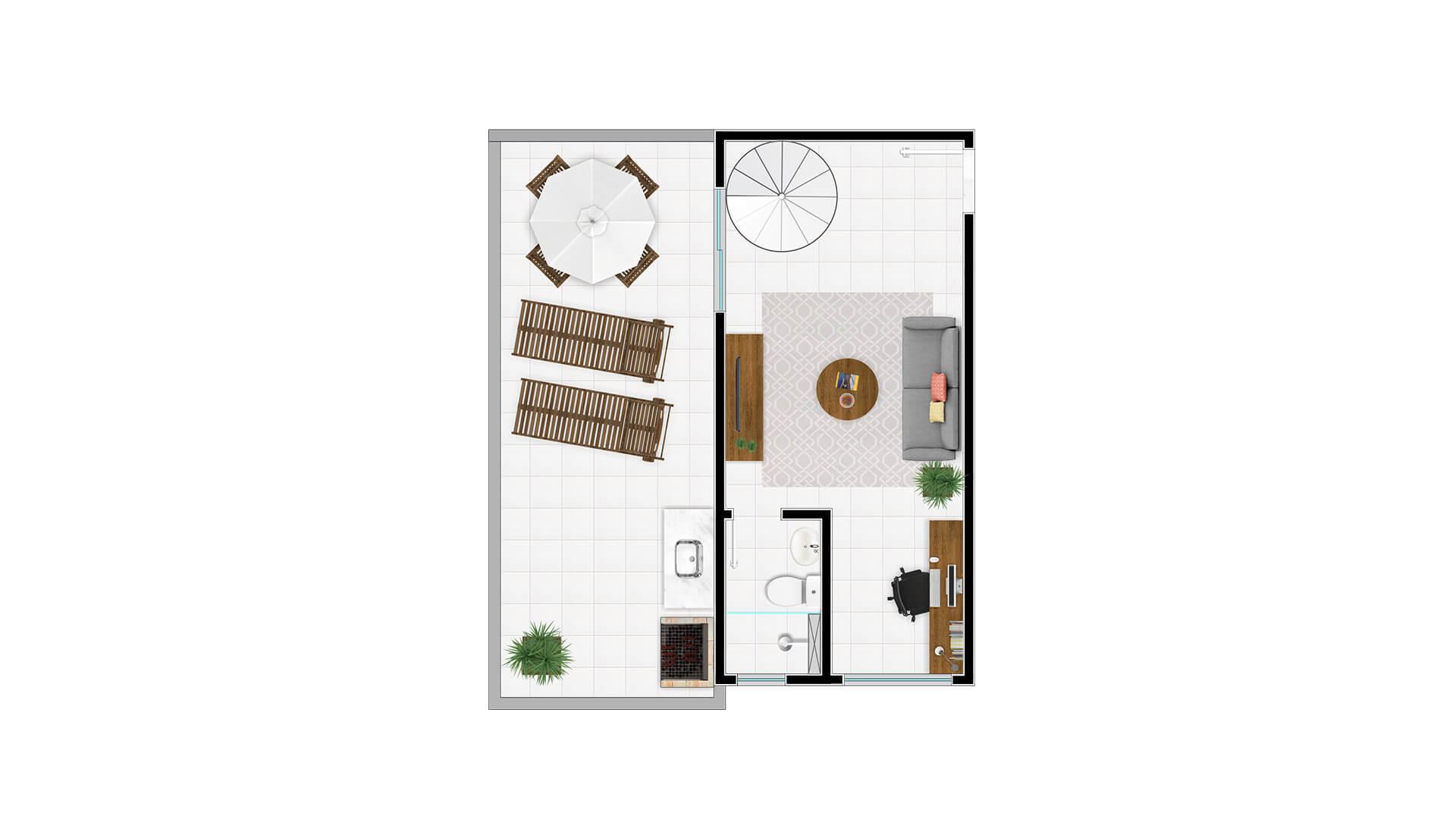 Cobertura Tipo 1 - 2º andar - Millennium Residence