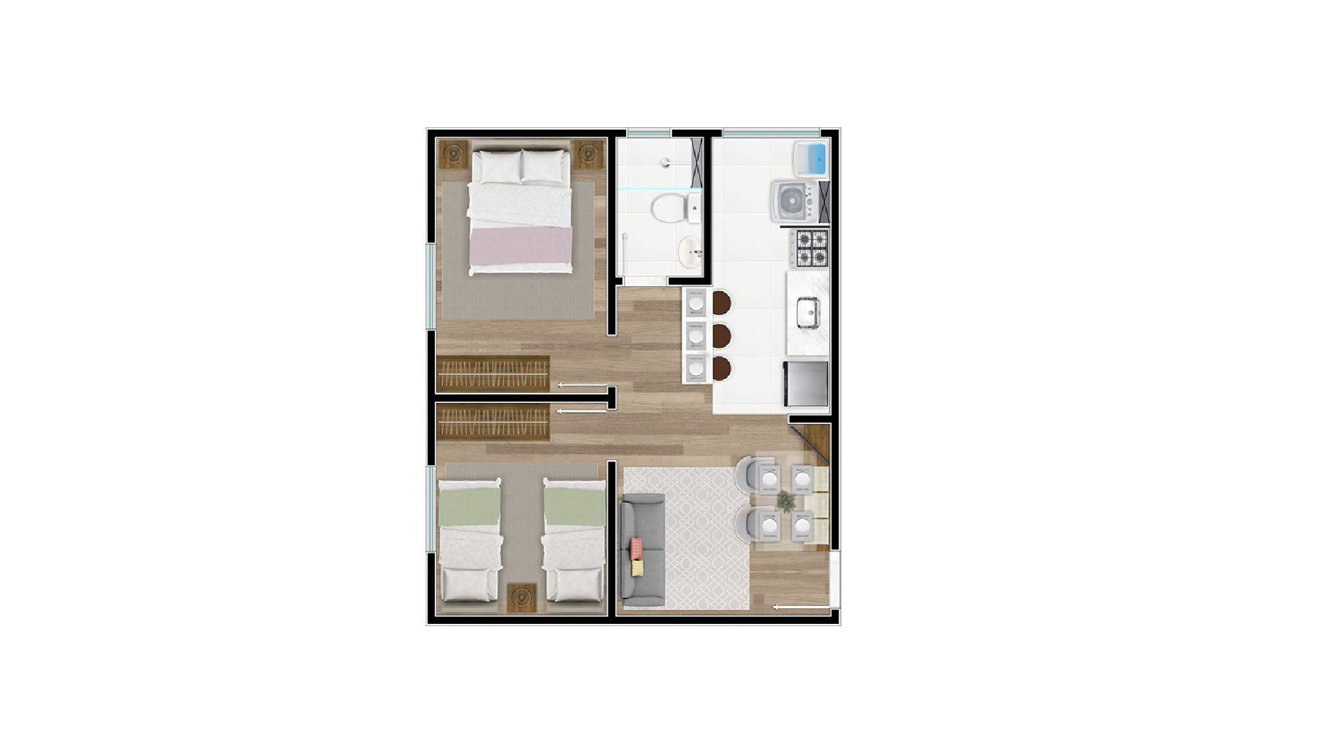 Tipo 1 - Millennium Residence
